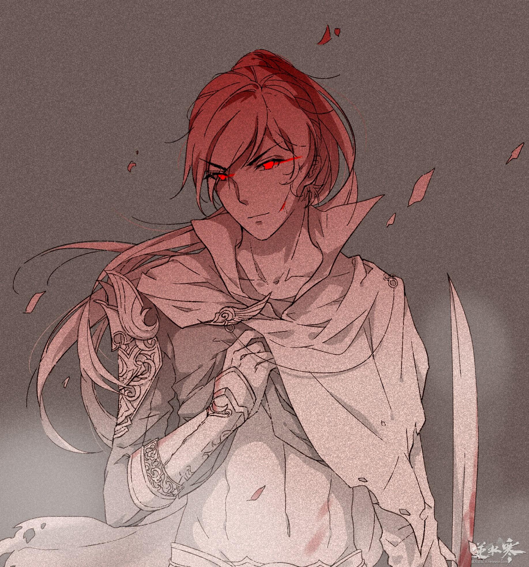 【自在门·手绘】妖兽啦碎梦师兄撩衣服啦\(^o^)/是我心中的碎梦没错了