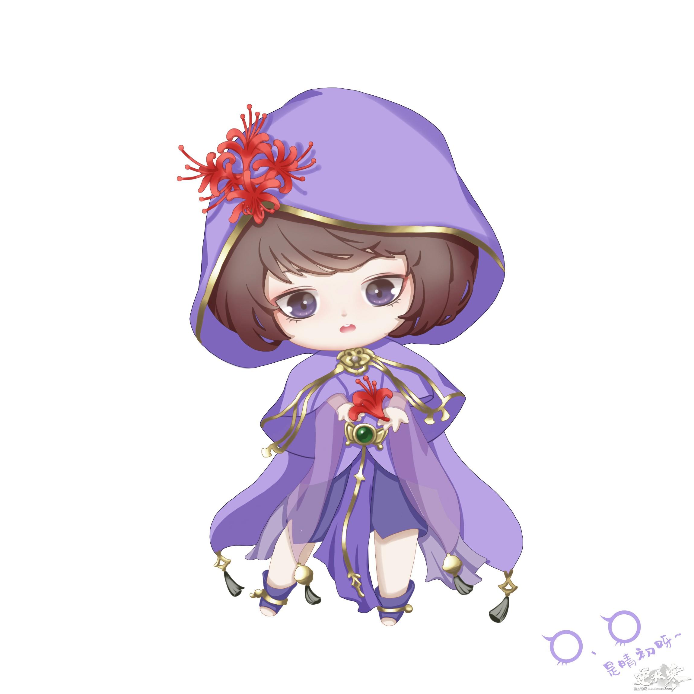 【自在门·手绘】一朵Q版瑶花花!
